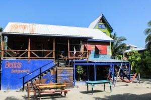 You're supposed to see a photo of Bella's Backpacker hostel on Caye Caulker