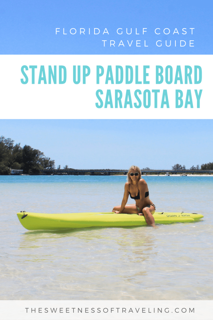 paddle boarding longboat key SUP Sarasota Bay happy paddler