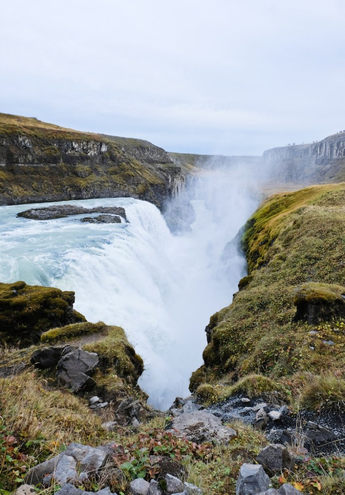 gulfoss waterfall iceland road trip golden circle tour travel blog