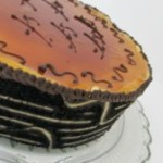 Biscuit Joconde Imprime/Entremet Filled With Chocolate Mousse and Cheesecake