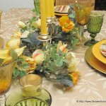 Green and Gold for Tables