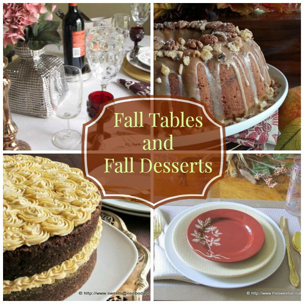 Fall Tables and Fall Desserts
