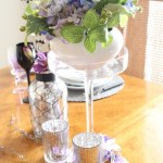 Wishing for Spring Lilac and Black Tablescape