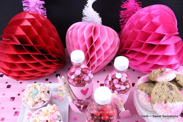 A super easy mini Valentine's dessert table is perfect for small families, office and school parties.