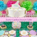 Easter Garden Dessert Table