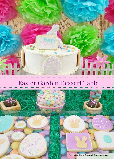 Banner Easter Garden Dessert Table 37