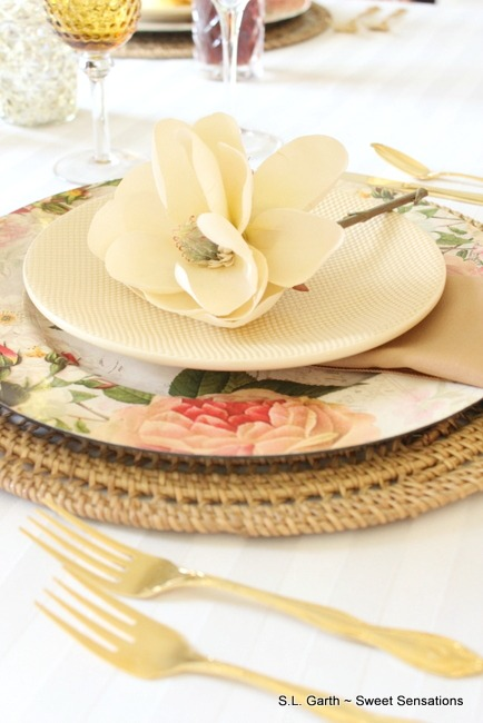 Soft Floral Tablescape 3