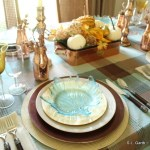 Plaid and Copper Tablescape