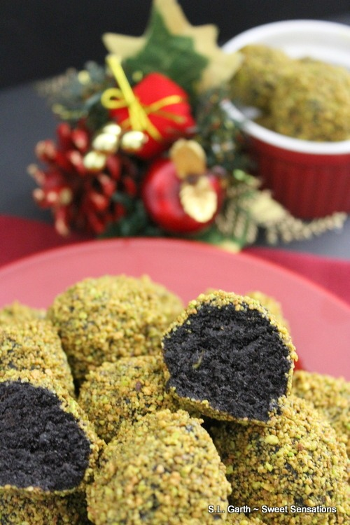These Pistachio Crusted Chocolate Cake Truffles are another foray into combing something savory into a dessert.
