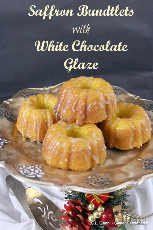 If you think that Saffron Bundtlets with White Chocolate Glaze sound a bit exotic, you're right.