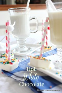 Hot White Chocolate 2 ways is a delicious detour from traditional hot chocolate.