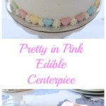 Pretty in Pink Cherry Cake as an Edible Centerpiece