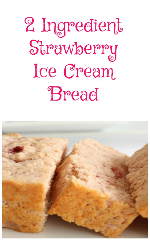If you haven't tried ice cream bread yet what are you waiting for? This quick and easy 2 Ingredient Strawberry Ice Cream Bread is a great place to start.