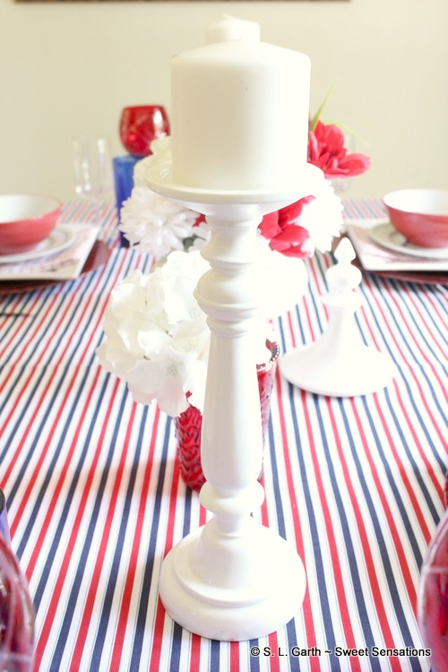 Styling this Classy and Casual July 4th Tablescape was made easy by using inexpensive items.