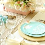 The Makings of a Tropical/Beach Theme Tablescape