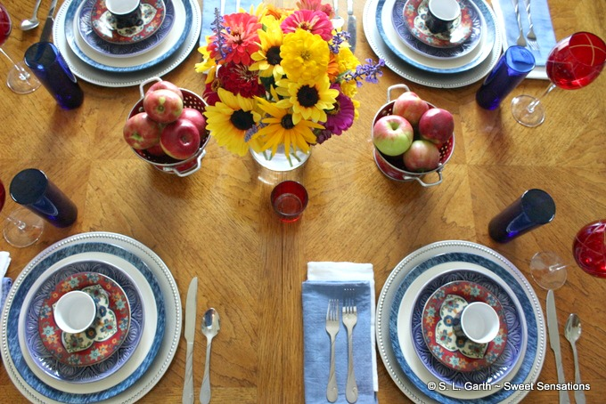 This Early Fall Labor Day Inspired Tablescape was designed with a slight nod to the holiday and the beginning of the fall season.