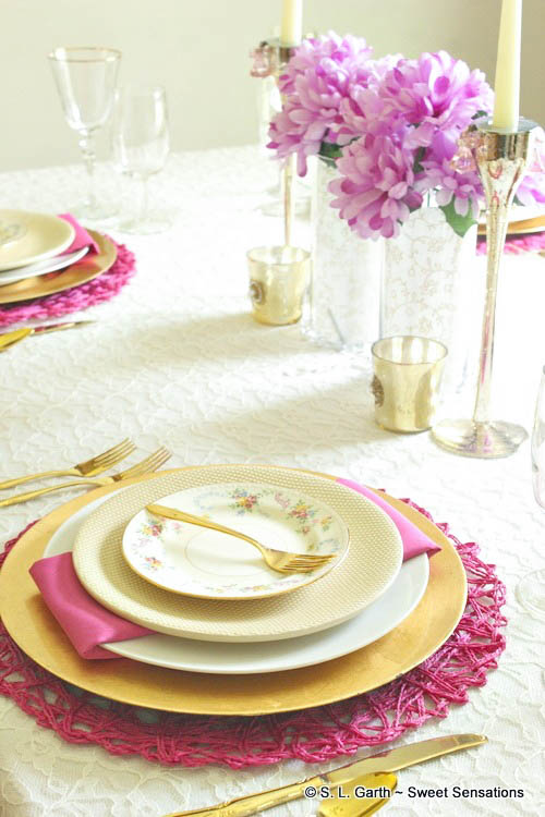 My ideas for using easy swaps to transform a casual tablescape to elegant one used mostly items I had on hand and some of them are thrifted.