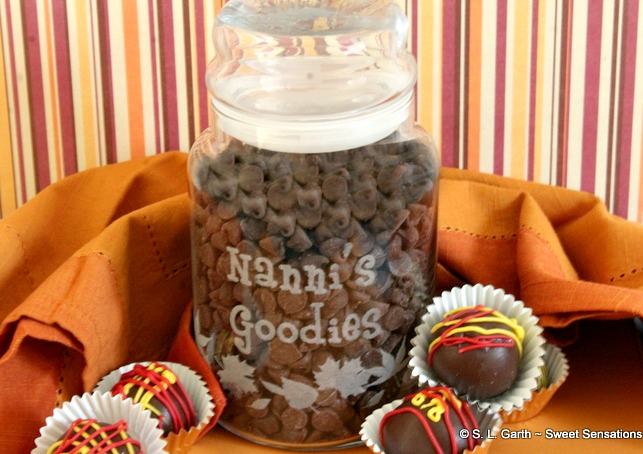 A personalized treat jar is not only good for sweet treats, it's also a great way to store baking supplies.