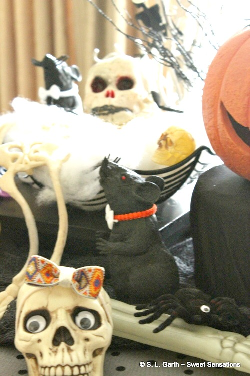 You never know who'll show up at the Monster Mash Halloween Dinner Tablescape.