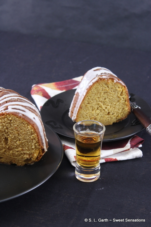 This Sweet Potato Bundt Cake with Apricot Brandy Glaze is perfect for the upcoming holidays.
