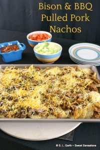 After a day of shopping and running errands, these Bison and BBQ Pulled Pork Nachos are a quick and easy meal to pull together.