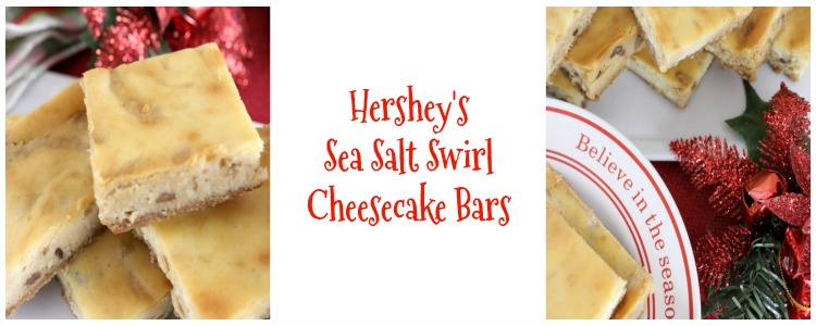 Hershey's Sea Salt Swirl Cheesecake Bars are simple enough for every day and worthy of a spot on the most decadent dessert table.