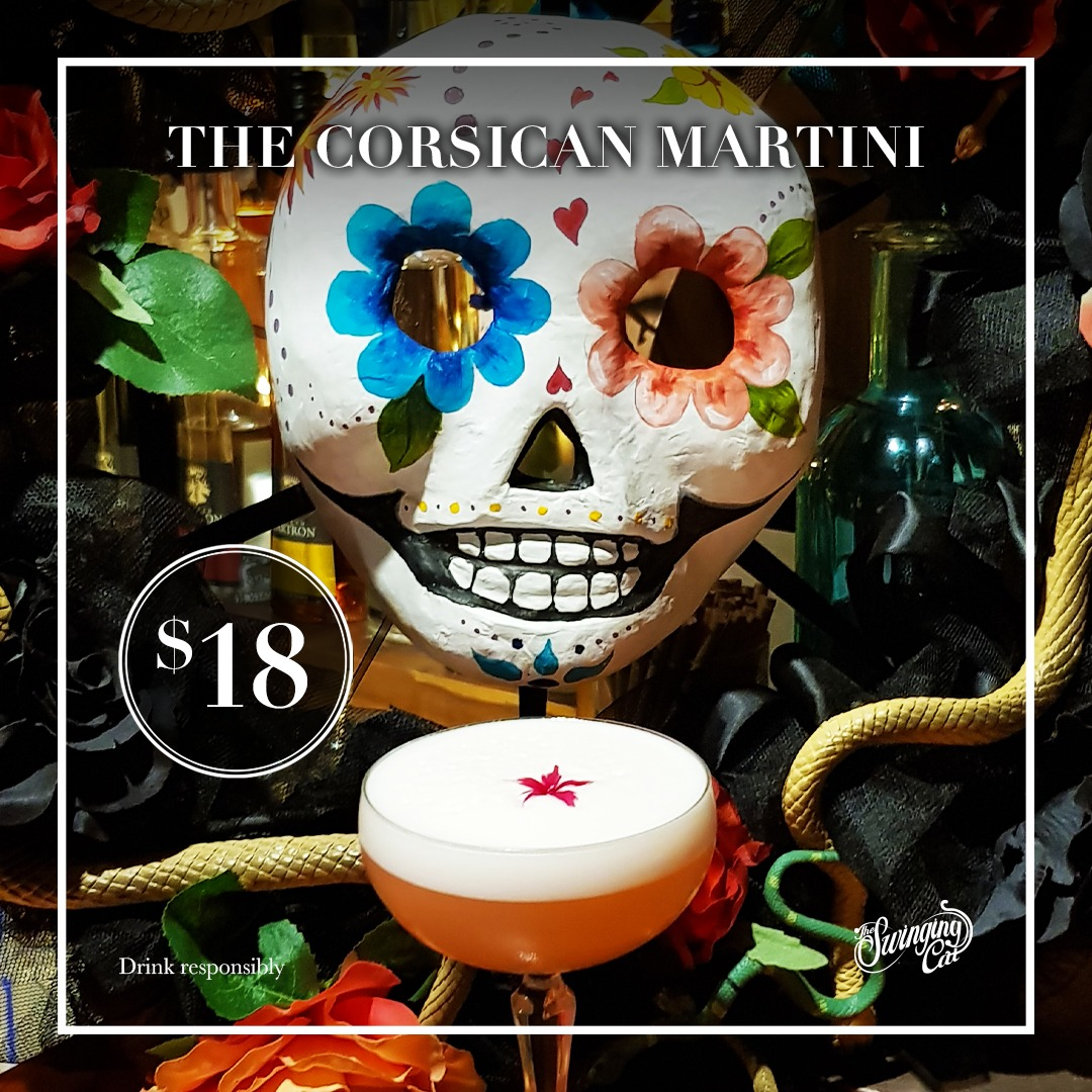 The Corsican Martini Cocktail of the Month February The Swinging Cat Sydney CBD Bar
