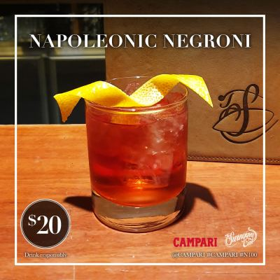 Napoleonic Negroni Week Cocktail The Swinging Cat 2019 Charity Campari