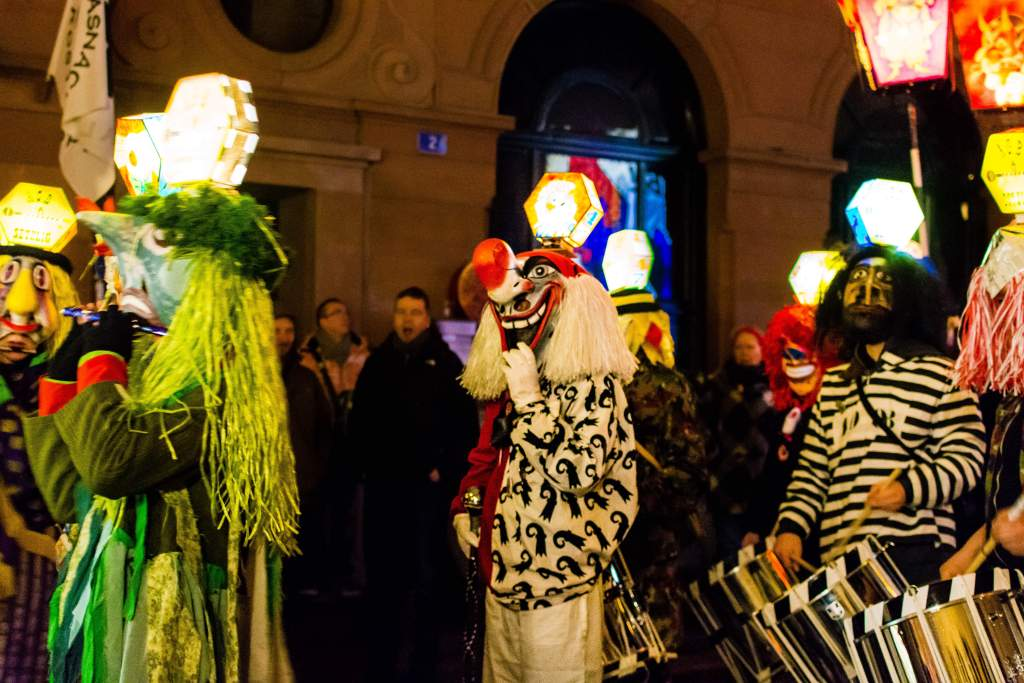 Clique costumes at the Basler Fasnacht