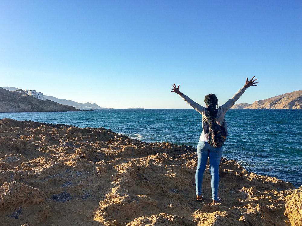 Toni is Finally in Mykonos!