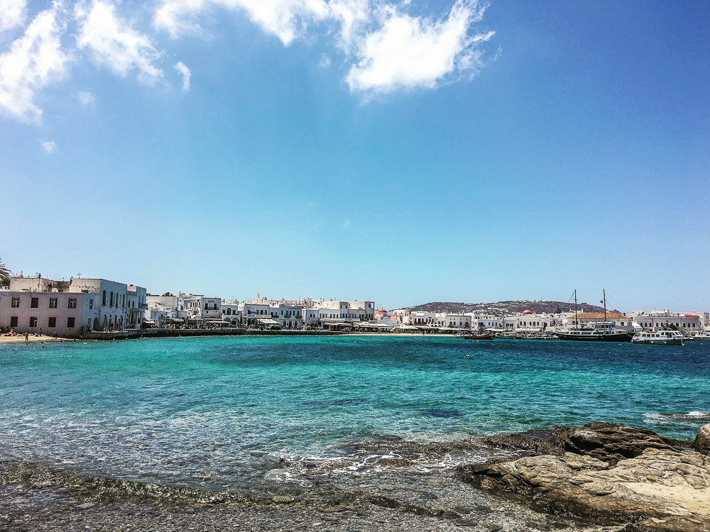 View from Lunch in Mykonos Town