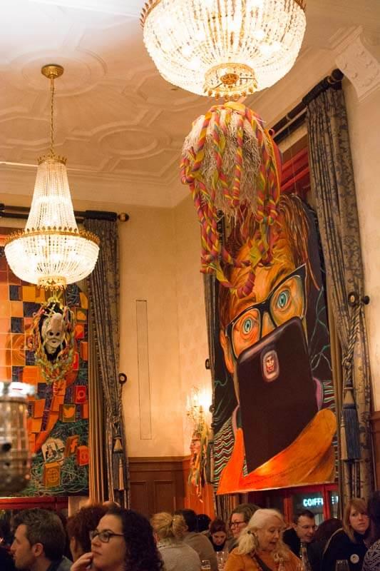 Fasnacht Themed Restaurant Decor at the Basler Fasnacht