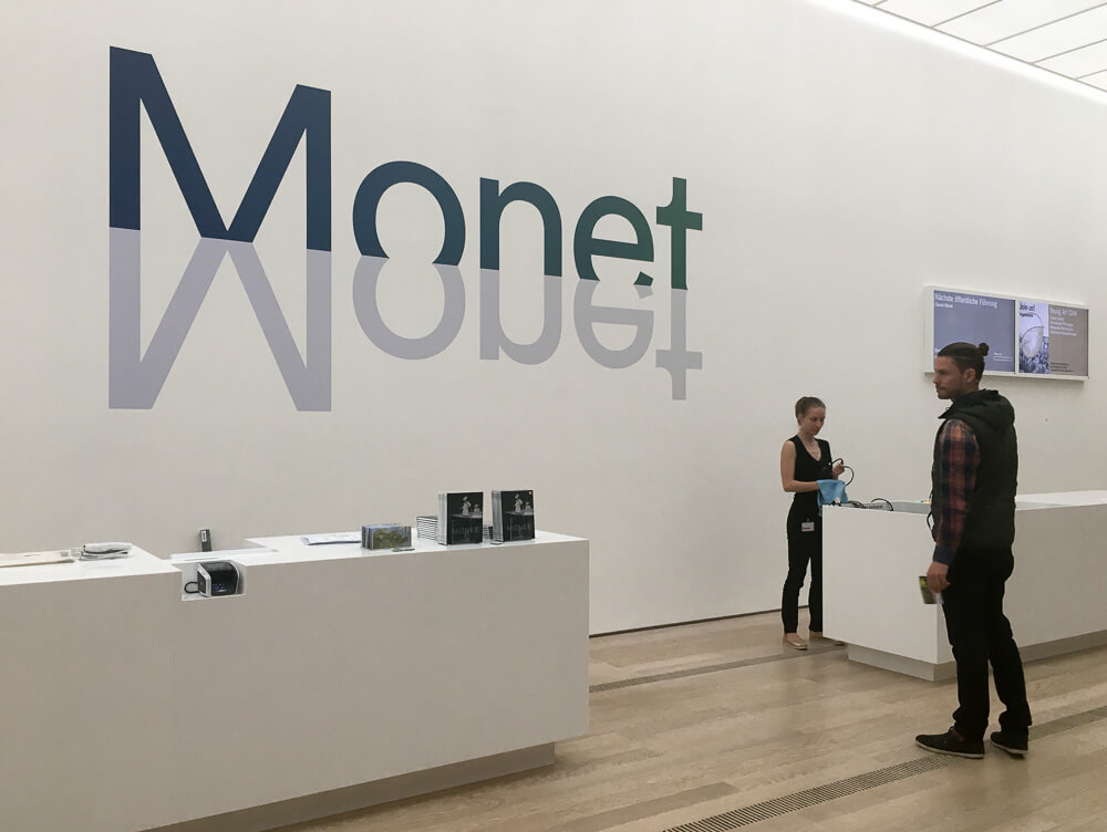 Exhibition Monet Welcome Space