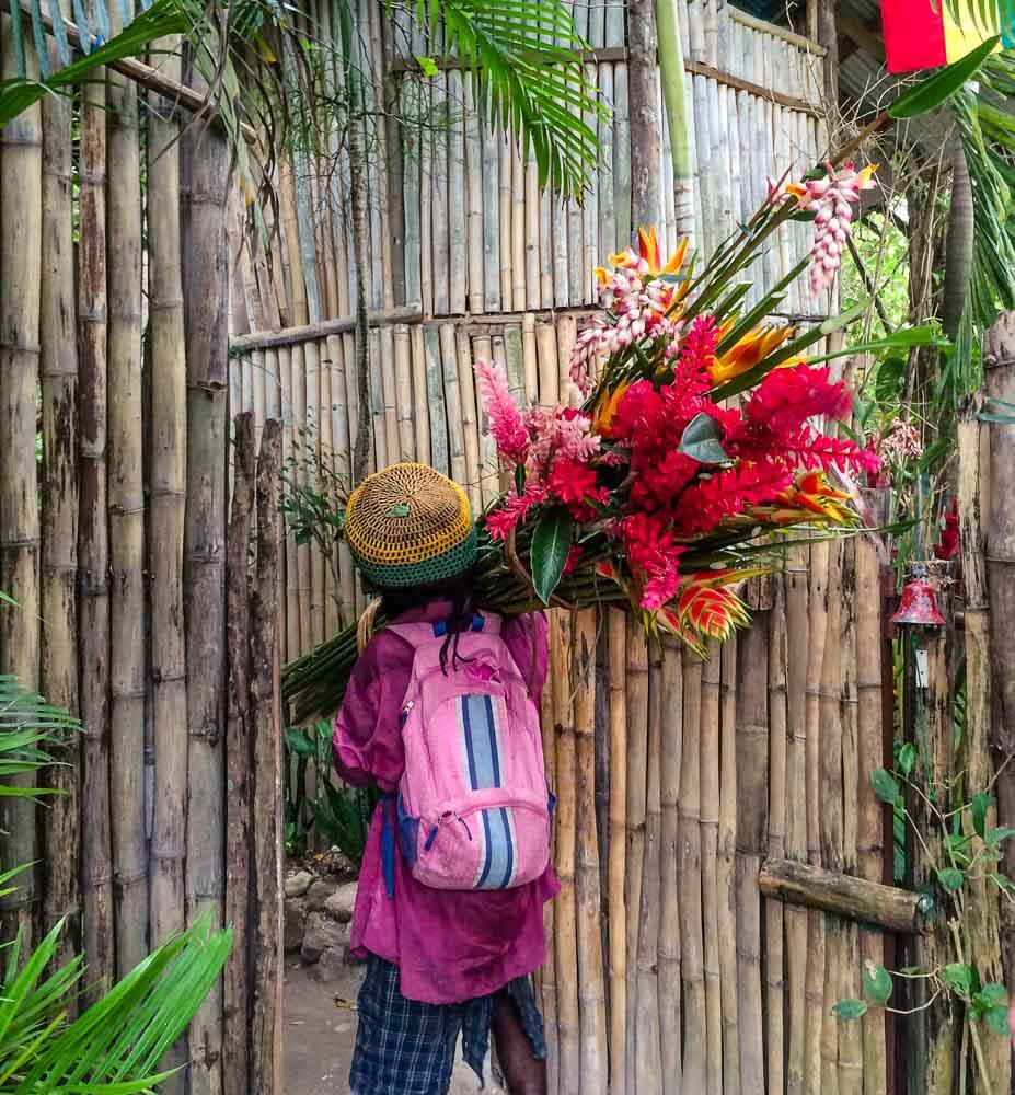 Rasta Man Delivering Flowers