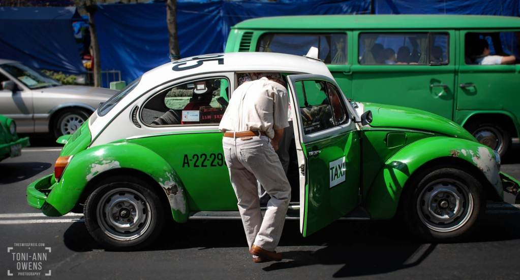Green VW Bug Taxi