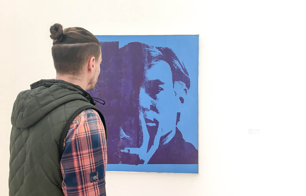 Jerry Observing Andy Warhol's Self Portrait