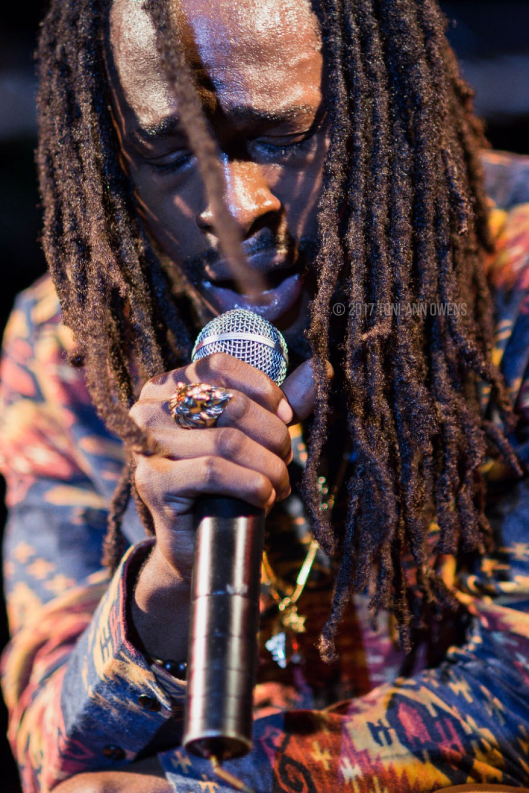 Jesse Royal at Wickie Wackie Music Festival 2015 in St. Thomas Jamaica © 2017 Toni-Ann Owens