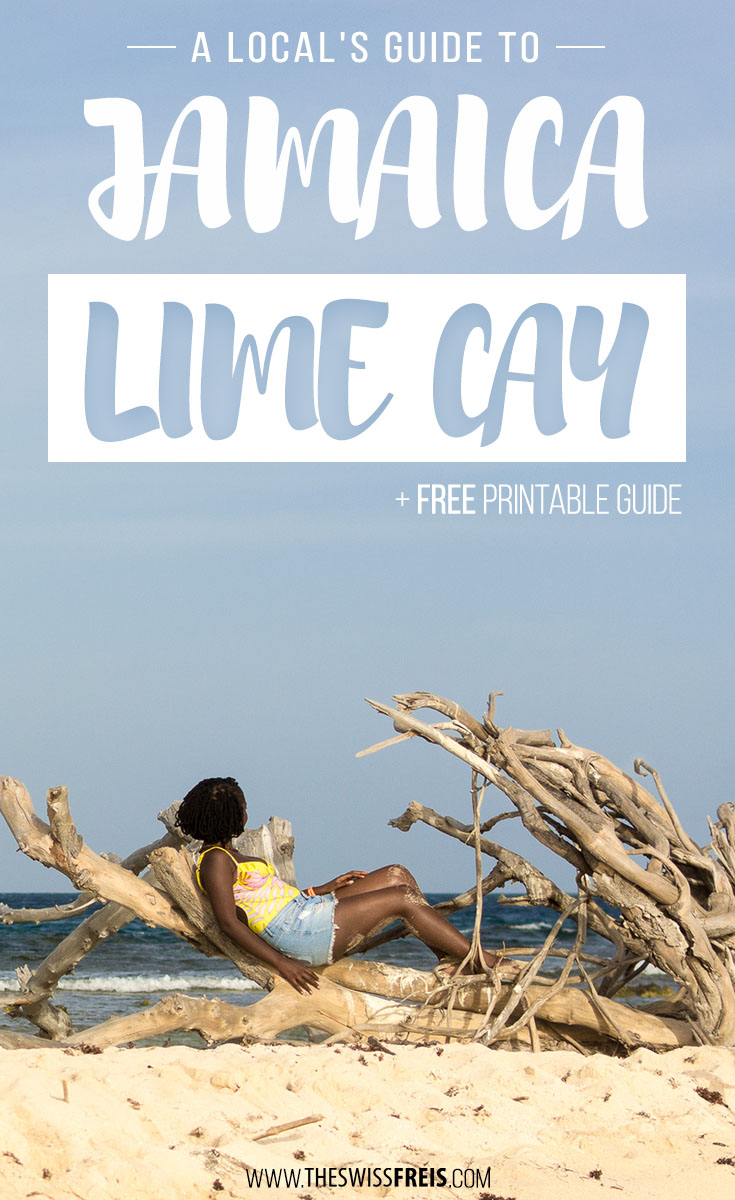 Lime Cay is a small island located just off the coast of Jamaica's capital city, Kingston. Its perfectly blue waters and flawless white sand makes it the perfect spot for a beach day in Kingston, Jamaica! via www.theswissfreis.com