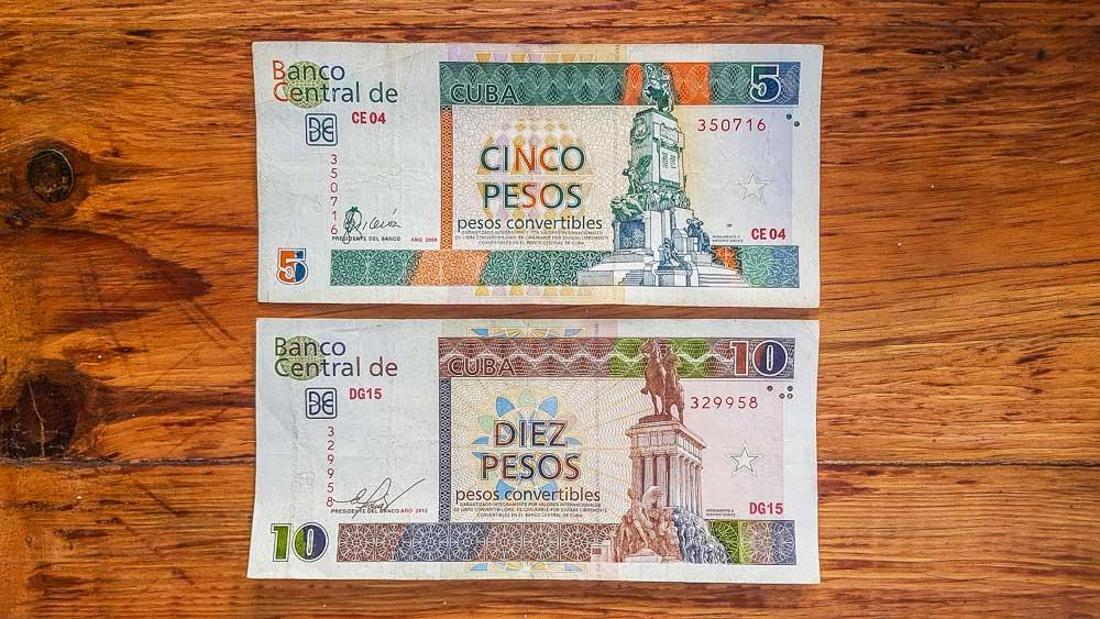 Cuban Convertible Pesos (CUC)