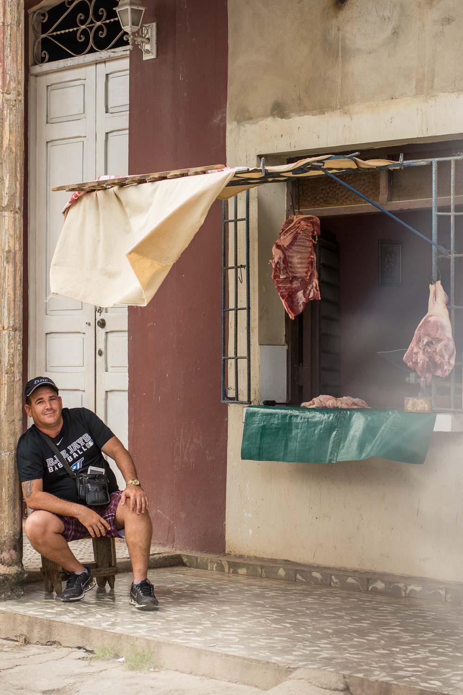 Butcher in Morón Cuba