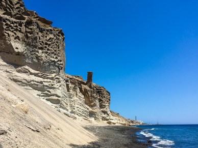 Private Section of Eros Beach in Santorini
