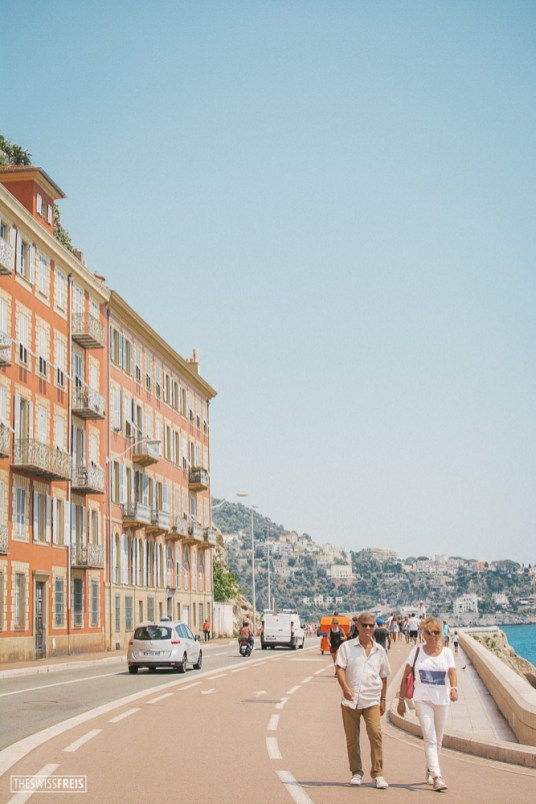 People Walking Along the Promenade des Anglais in Nice