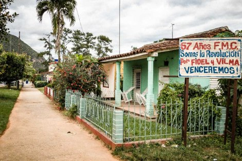 Political revolution sign in Vinales