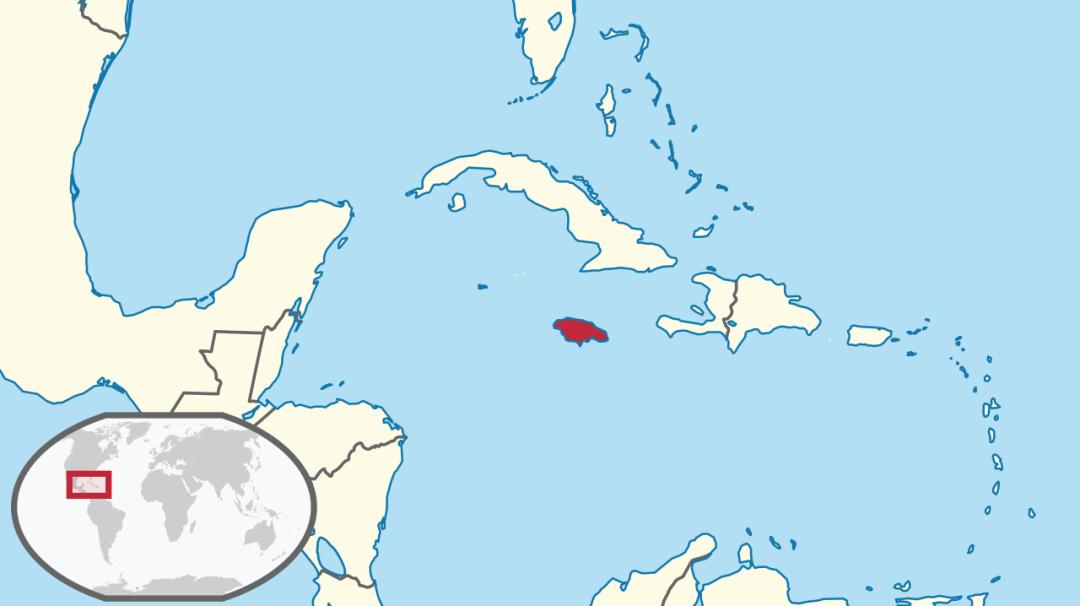Jamaica on a Map