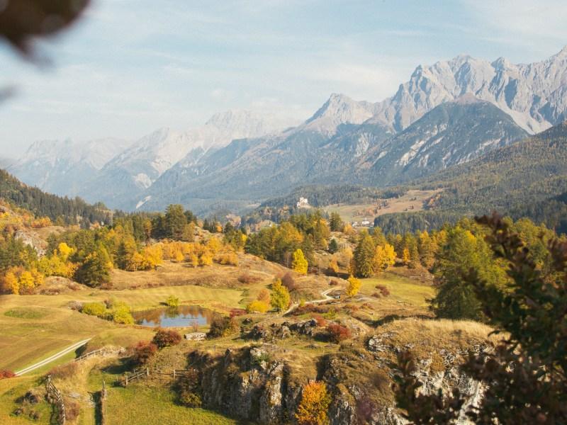 Autumn in Ardez Switzerland