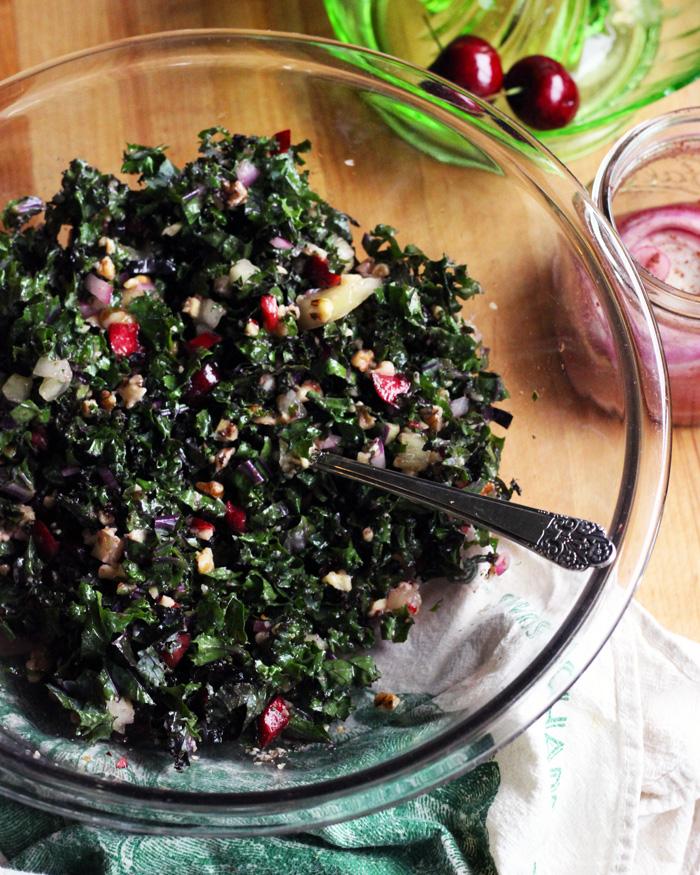 Kale Walnut Cherry Tabbouleh   www.thetableofcontents.co
