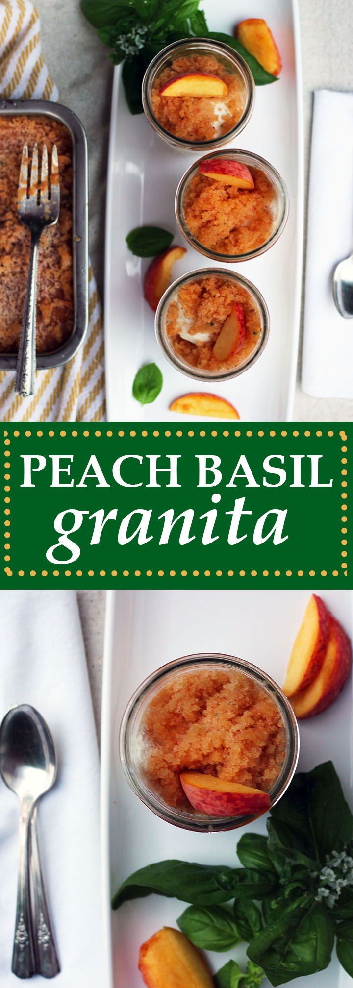 Peach Basil Granita | www.thetableofcontents.co