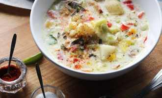Summer Corn and Lima Bean Chowder | www.thetableofcontents.co