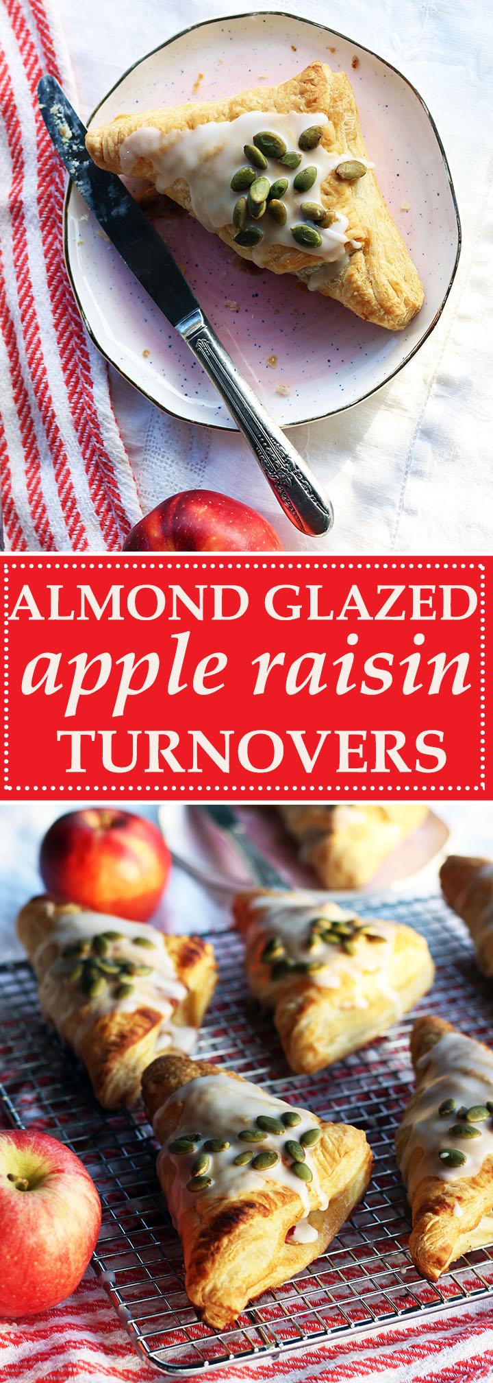Almond Glazed Apple Raisin Turnovers | www.thetableofcontents.co