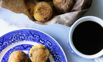 Pumpkin Chocolate Chip Donut Muffins | www.thetableofcontents.co
